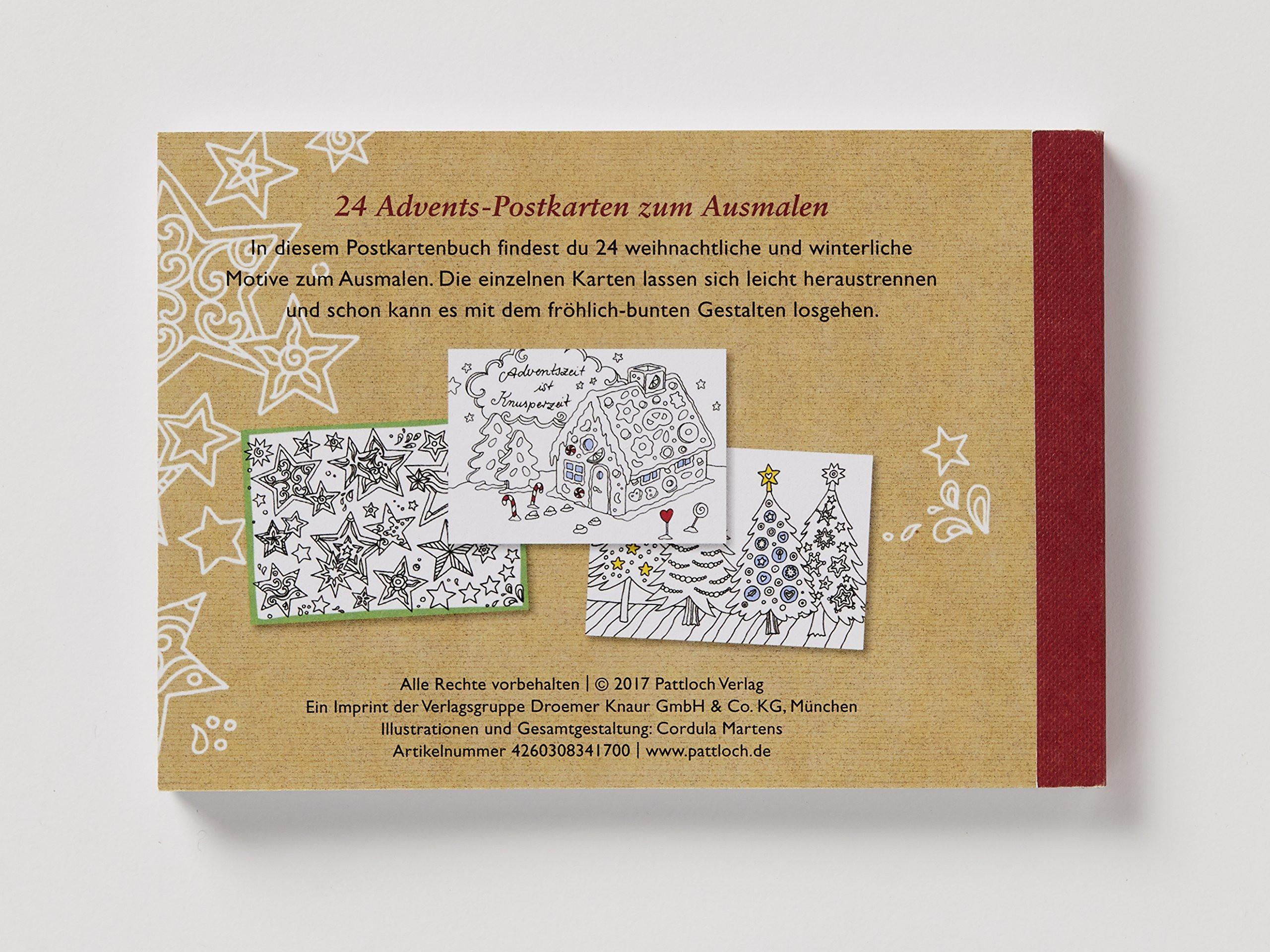 10 Plagen Ausmalbilder Neu Mein Adventszauber 24 Postkarten Zum Ausmalen Amazon Cordula Genial Stock