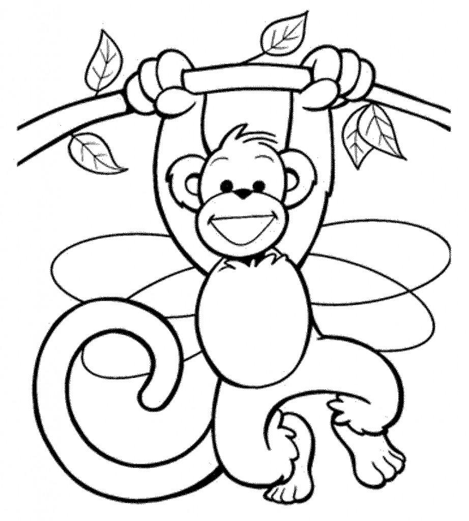 Affen Zum Ausmalen Das Beste Von Druckbare Malvorlage Ausmalbilder Affe Beste Druckbare Bild