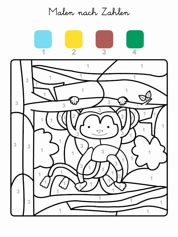 Affen Zum Ausmalen Genial Affen Bilder Zum Ausdrucken Kreativität Bayern Ausmalbilder Frisch Bild