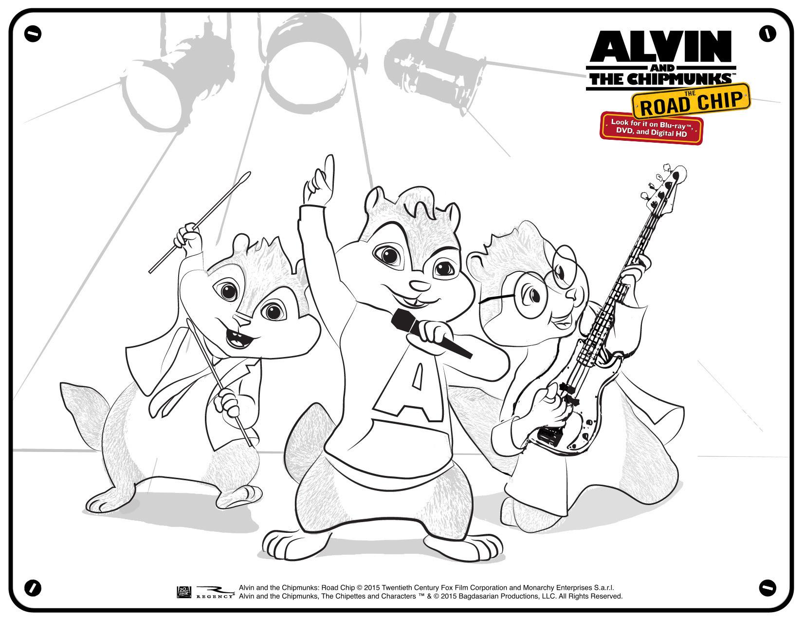 Alvin Und Die Chipmunks Ausmalbilder Genial Alvin and the Chipmunks Coloring Pages Yintan Frisch Ausmalbilder Fotos