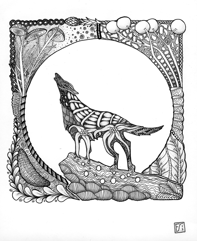 Alvin Und Die Chipmunks Ausmalbilder Genial ornate Fox ornate Zentangle Art Animals Google Search Schön Bilder