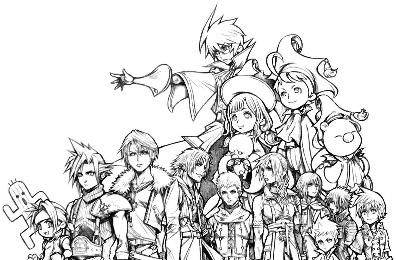 Anime Engel Ausmalbilder Frisch Tetsuya Nomura Art From Final Fantasy 30th Anniversary Exhibit Fotos