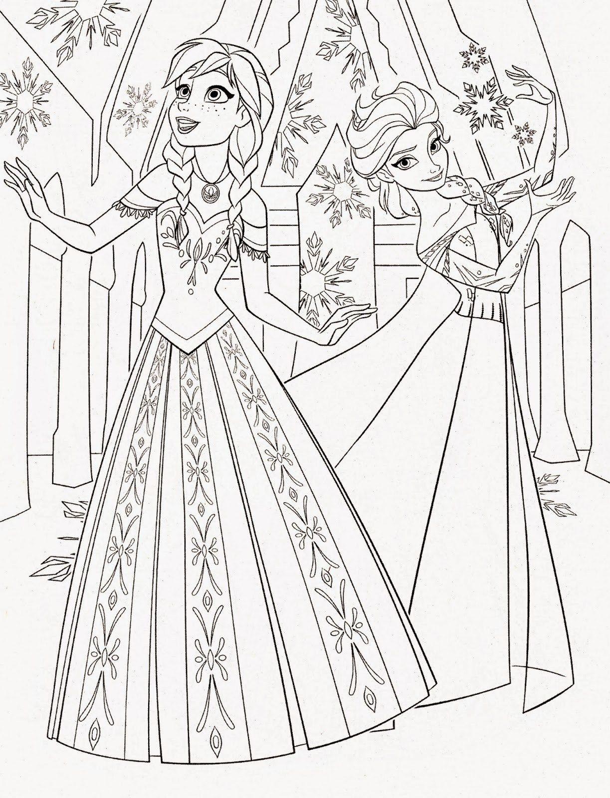 Anna Und Elsa Zum Ausmalen Neu Anna Elsa Ausmalbilder Best Disney Princess Frozen Elsa and Anna Bild