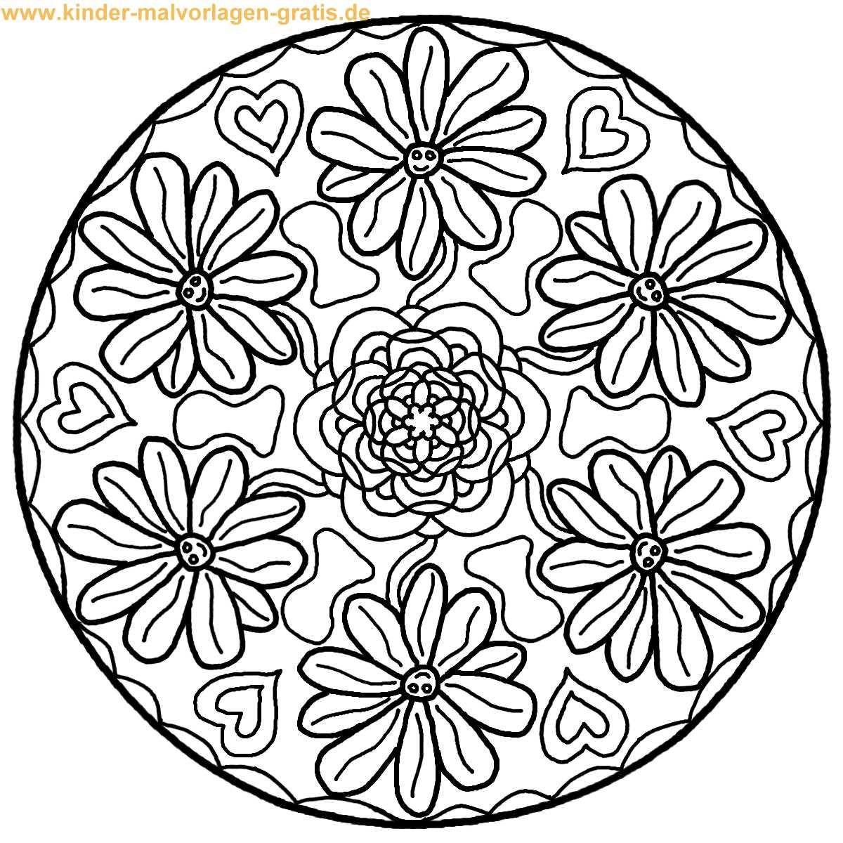 Anspruchsvolle Mandalas Zum Ausdrucken Neu Kostenlose Mandalas Zum Ausdrucken Fabulous with Kostenlose Bild