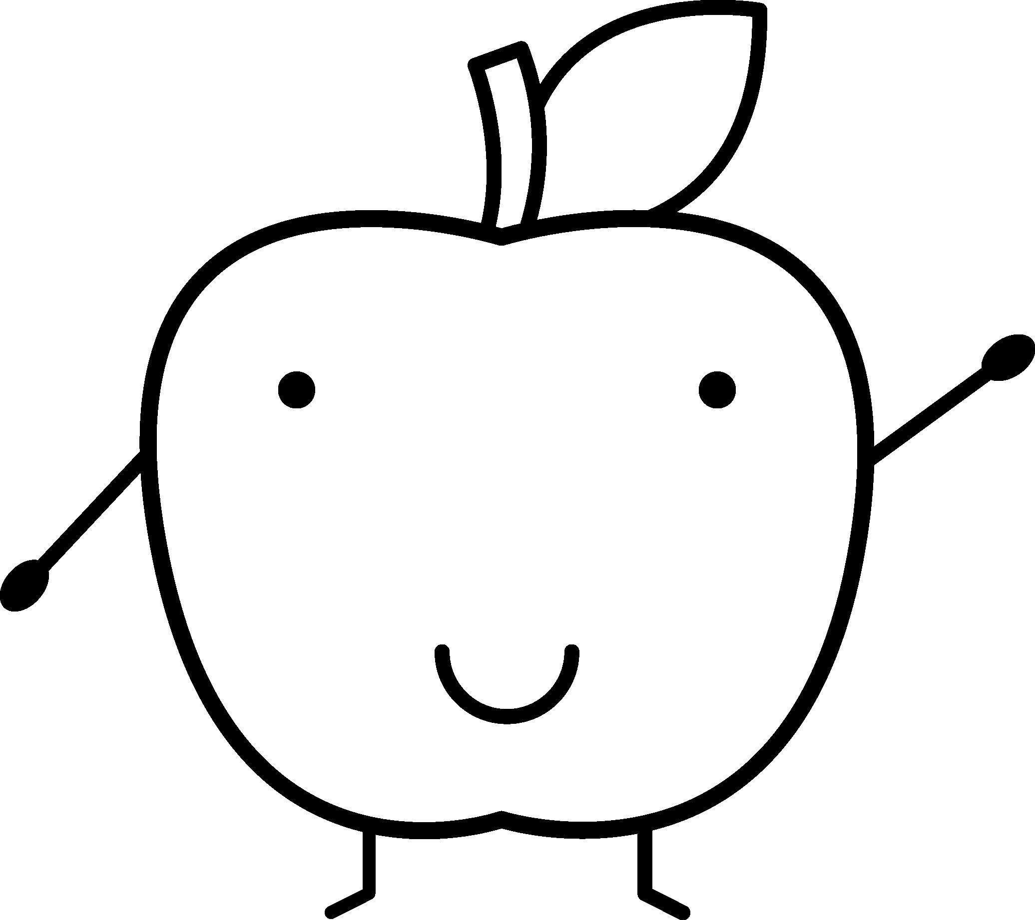 Apfel Zum Ausmalen Frisch Apple Bilder Zum Ausmalen Beeindruckend Smiling Apple Fotos