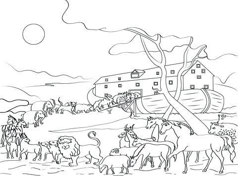 Arche Noah Ausmalbild Inspirierend Noahs Arche Malvorlagen Die Die Arche Noah Tiere Ausmalbild Bild