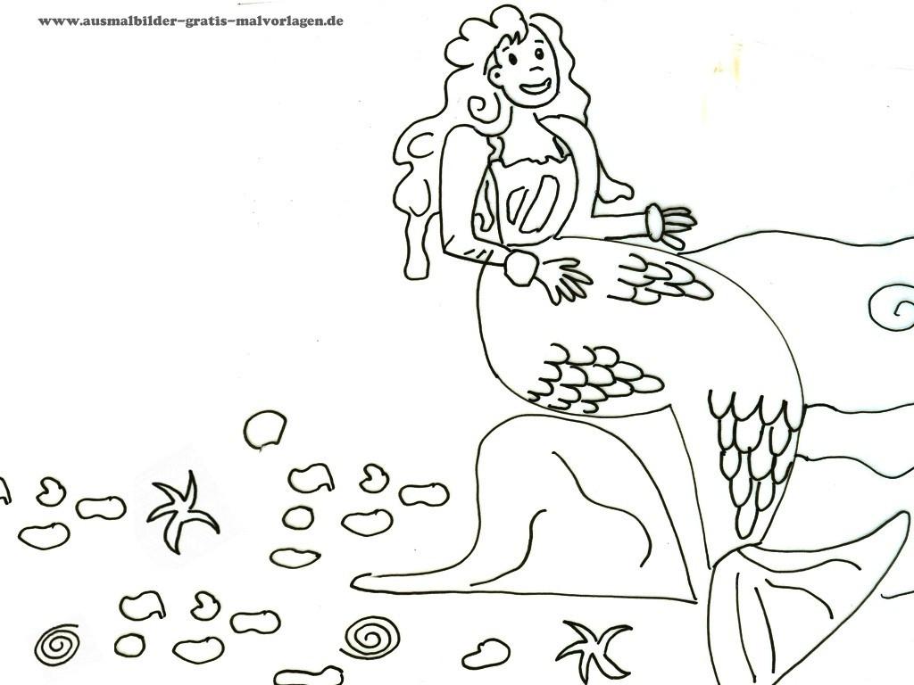 Arielle Ausmalbilder Zum Drucken Kostenlos Einzigartig Meerjungfrau Malvorlagen Das Beste Von Malvorlage Meerjungfrau Das Bild