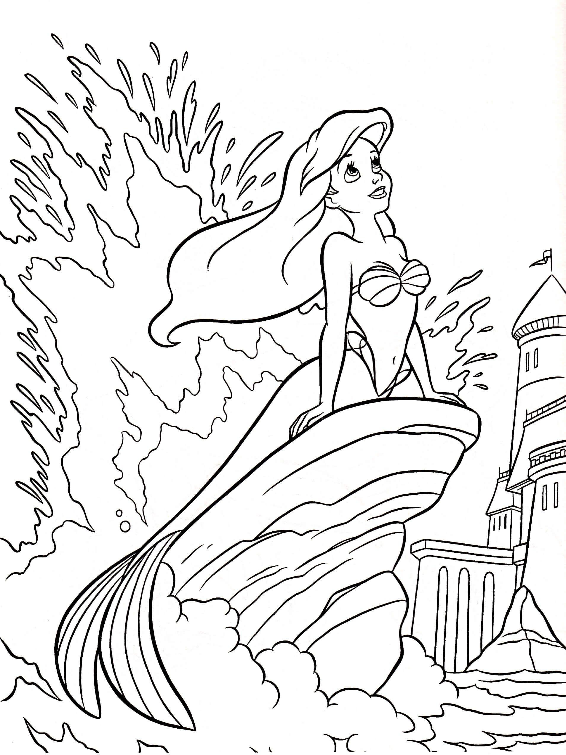 Arielle Ausmalbilder Zum Drucken Kostenlos Neu Disney Ariel Coloring Pages Schön Disney Ausmalbilder Arielle Das Bild