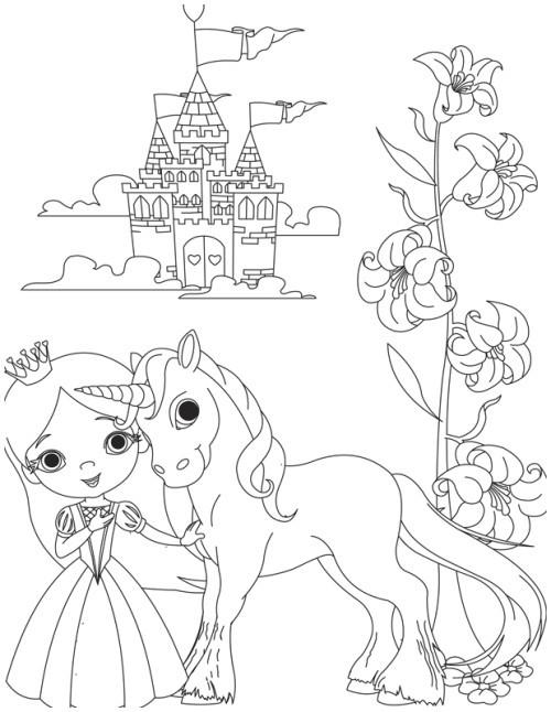 Ausmalbild Einhorn Mit Fee Neu Ausmalbilder Prinzessin Einhorn Ideen Kostenlose Malvorlage Sammlung