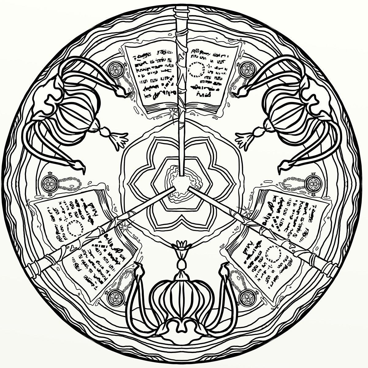Ausmalbild Harry Potter Frisch Harry Potter Magical Places & Characters Mandala Art Behance Bild