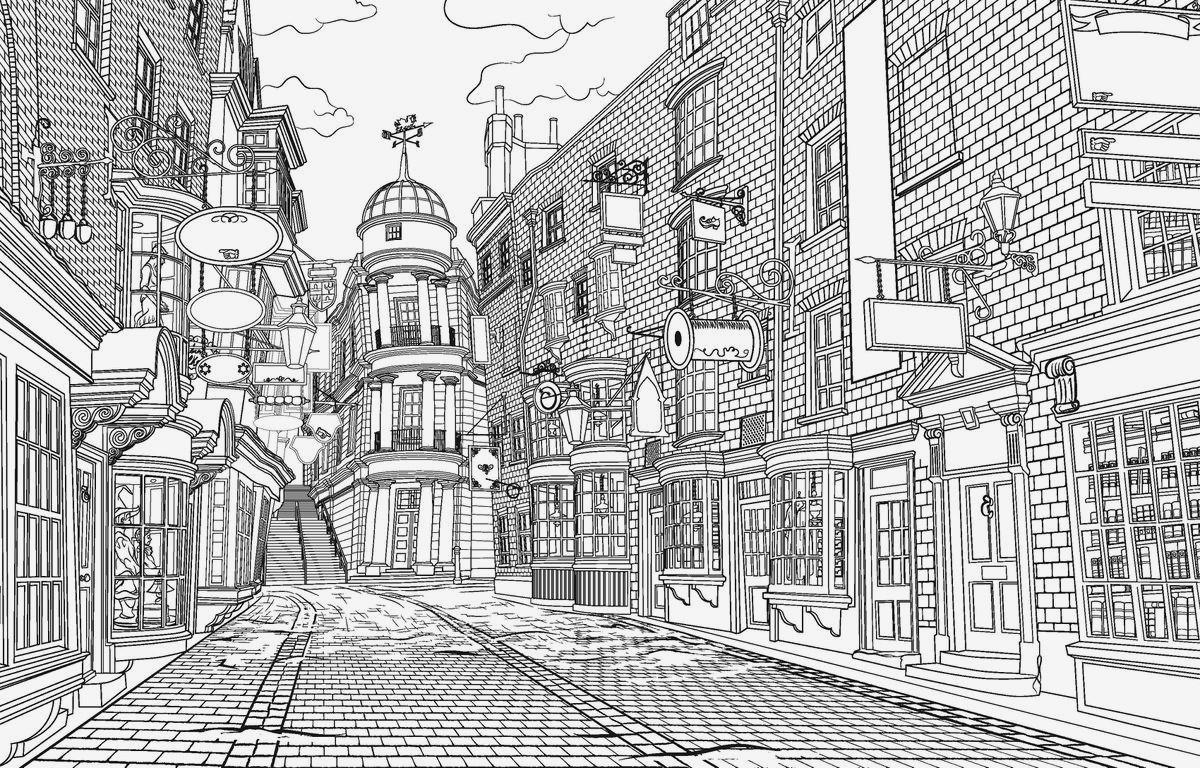 Ausmalbild Harry Potter Frisch Verschiedene Bilder Färben Harry Potter Malvorlagen Bild