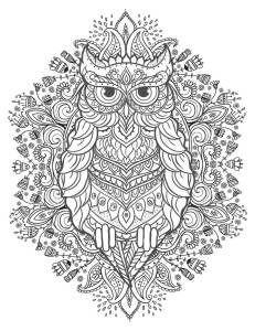 Ausmalbild Mandala Eule Einzigartig 10 Besten Gratis Ausmalbilder Eulen Bilder Auf Pinterest Stock