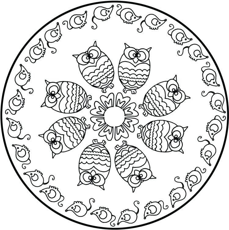 Ausmalbild Mandala Eule Einzigartig Susse Eule Malvorlagen Mandalas Fa 1 4 R Kinder Susse Eulen Galerie