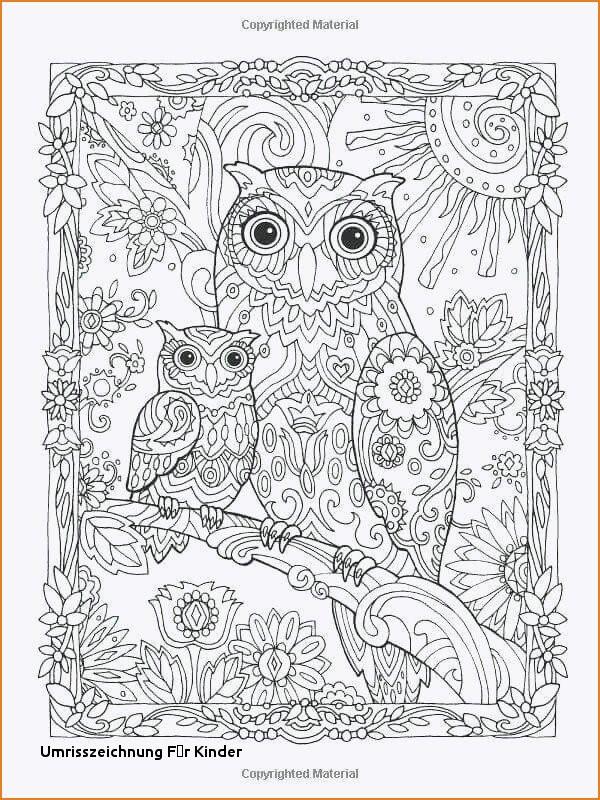 Ausmalbild Mandala Eule Frisch Umrisszeichnung Für Kinder 42 Ausmalbilder Mandala Fur Erwachsene Das Bild