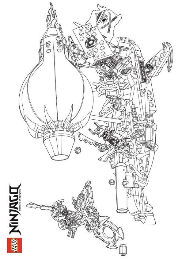 Ausmalbild Ninjago Drache Inspirierend Kids N Fun Das Bild