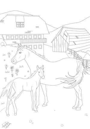 Ausmalbild Pferd Mit Reiter Frisch 10 Best Malvorlagen Pferde Stock