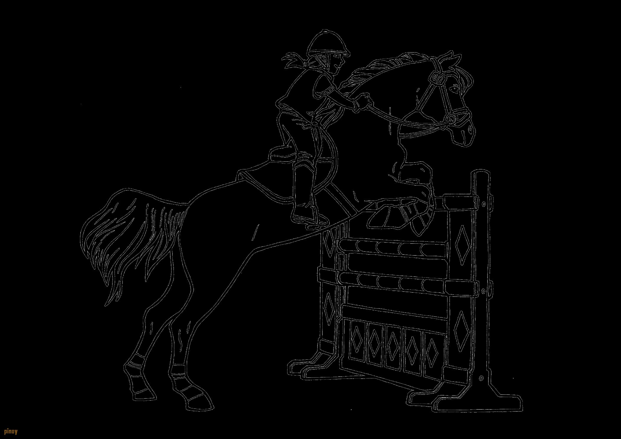 Ausmalbild Pferd Mit Reiter Frisch Malvorlage Pferd Mit Reiter Stock