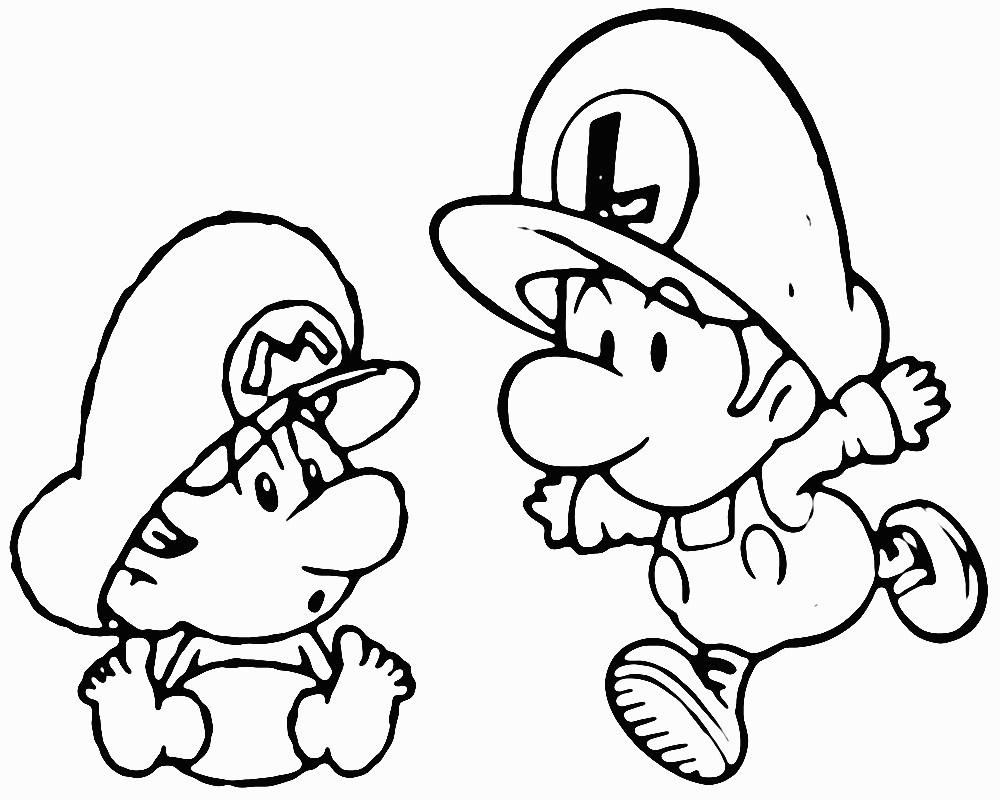 Ausmalbild Super Mario Einzigartig Super Mario Luigi Ausmalbilder Elegant Mario Coloring Pages to Print Sammlung