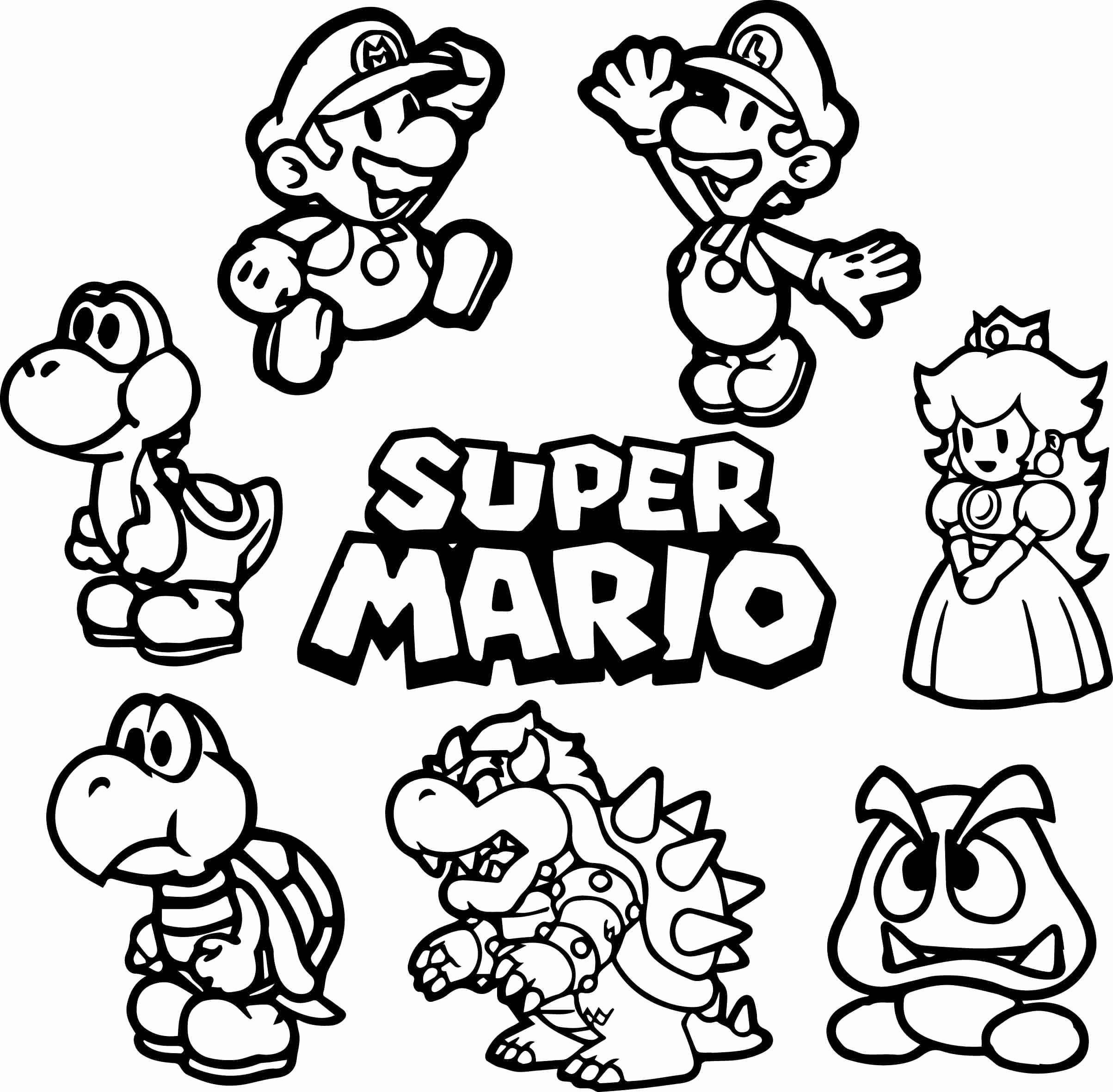 Ausmalbild Super Mario Frisch Mario Coloring Pages for Boys Download Ausmalbilder Super Mario Sammlung