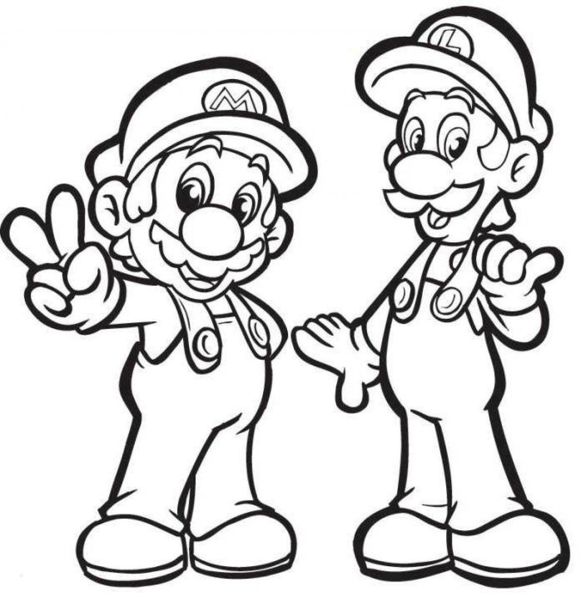 Ausmalbild Super Mario Neu Super Mario Luigi Ausmalbilder Elegant Mario Coloring Pages to Print Fotografieren