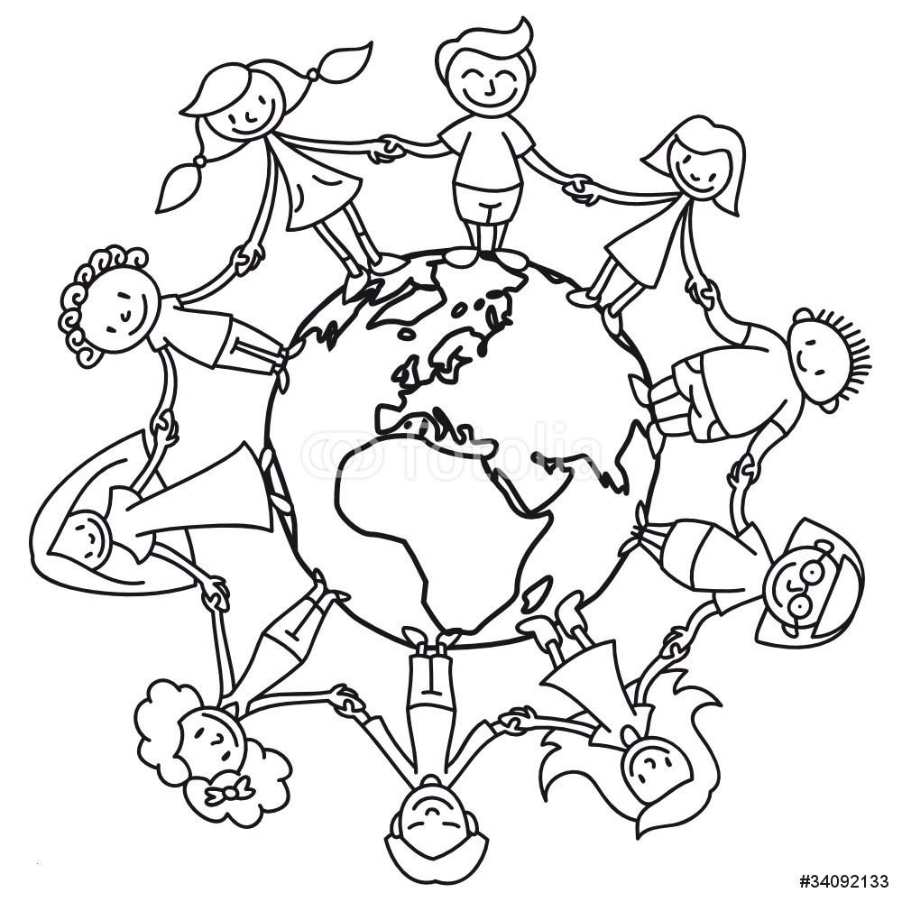 Ausmalbild Weltkugel Mit Kindern Neu Weltkugel Mit Kindern Zum Ausmalen — Hylenddawards Fotos