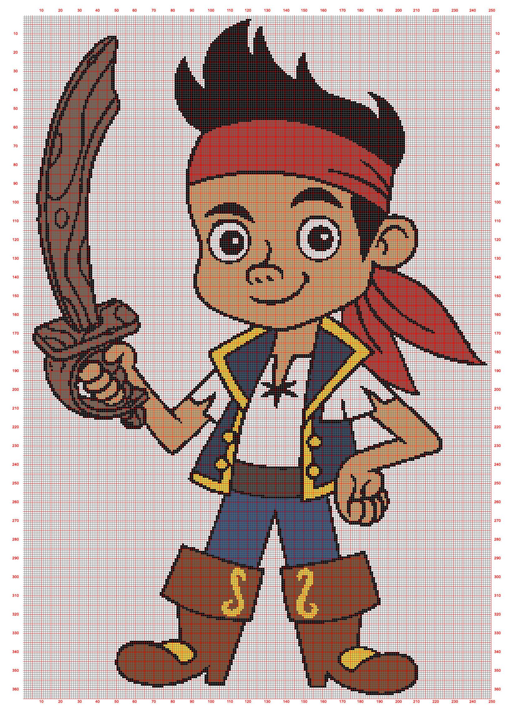 Ausmalbild Zoes Zauberschrank Frisch Jake Und Nimmerland Piraten 250x365 Minecraft Schön Jake Und Die Stock