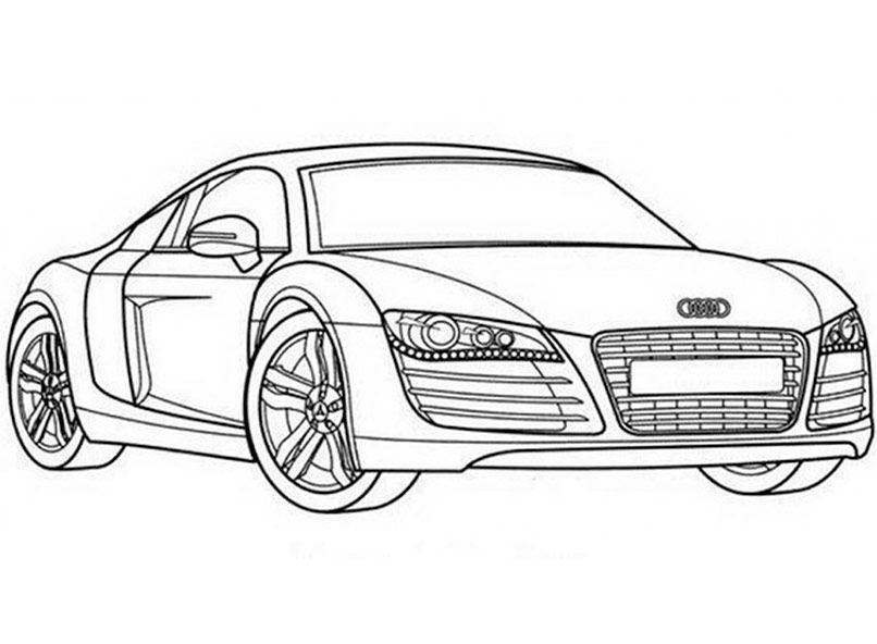 Ausmalbilder Audi R8 Ausdrucken Pinterest