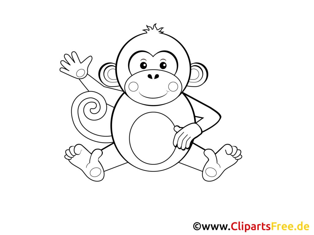 Ausmalbilder Baby Tiere Neu Druckbare Malvorlage Ausmalbilder Affe Beste Druckbare Stock