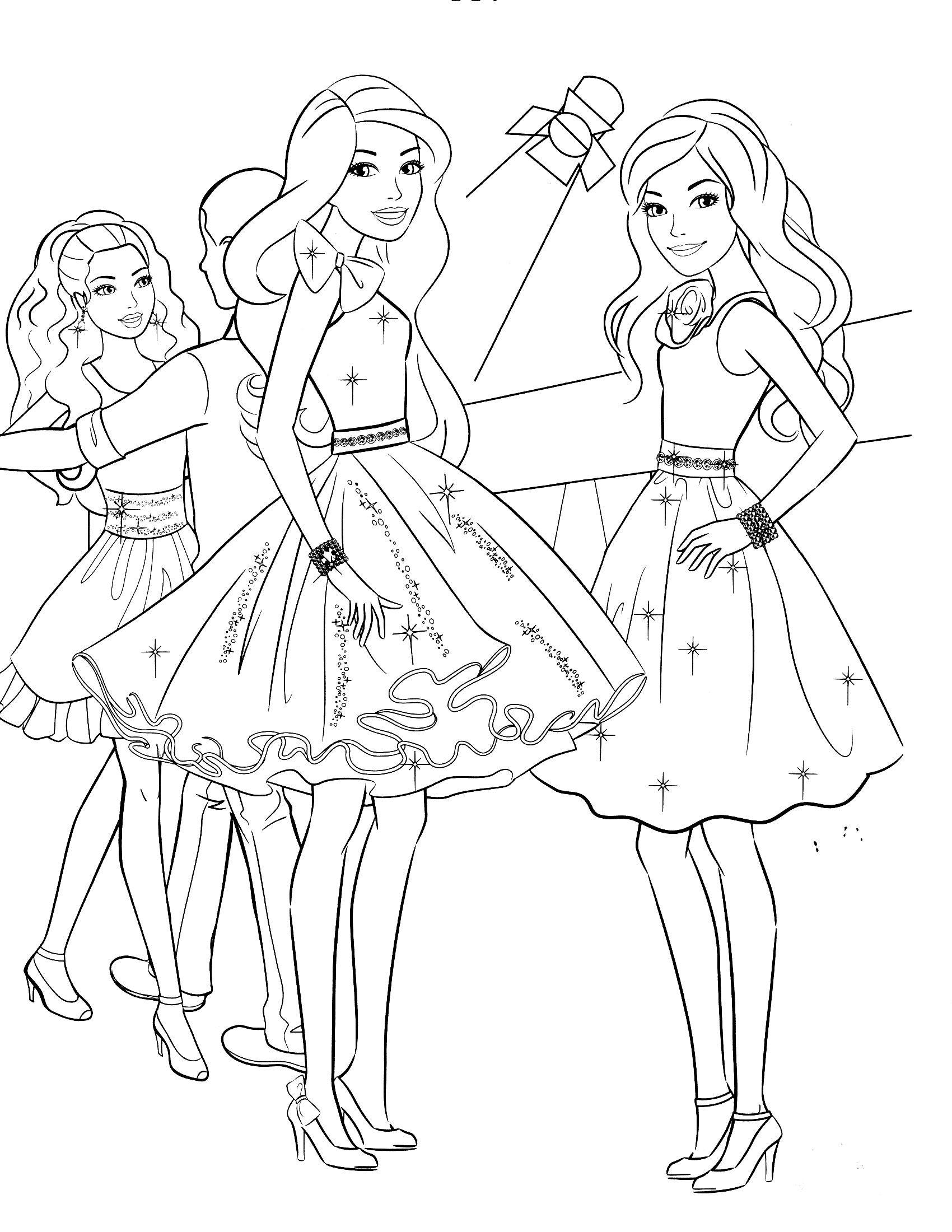 Ausmalbilder Barbie Prinzessin Einzigartig Free Coloring Pages for Kids Coloring Time Bilder