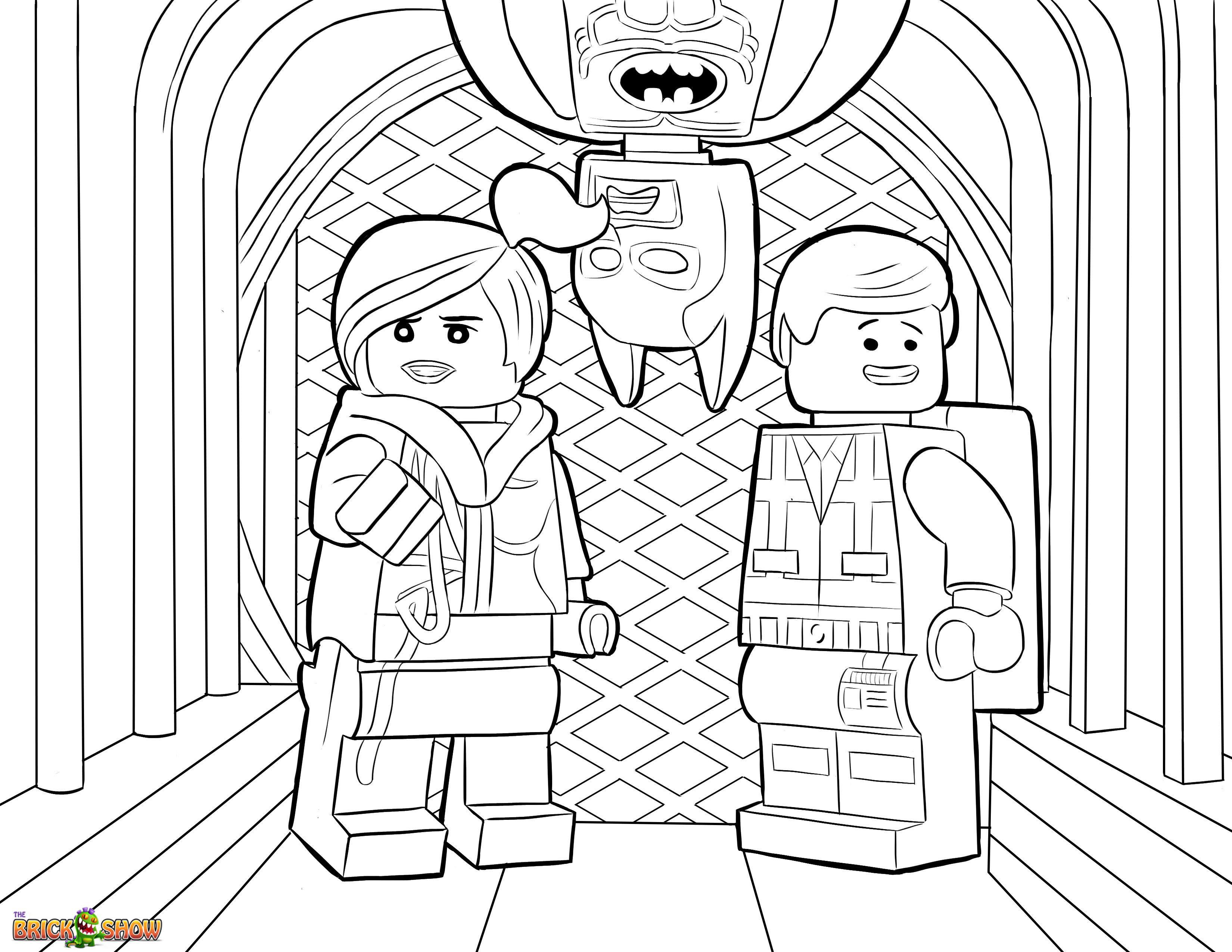 Ausmalbilder Batman Lego Frisch the Lego Movie Coloring Page Lego Wyldstyle Emmet & Batman Genial Das Bild