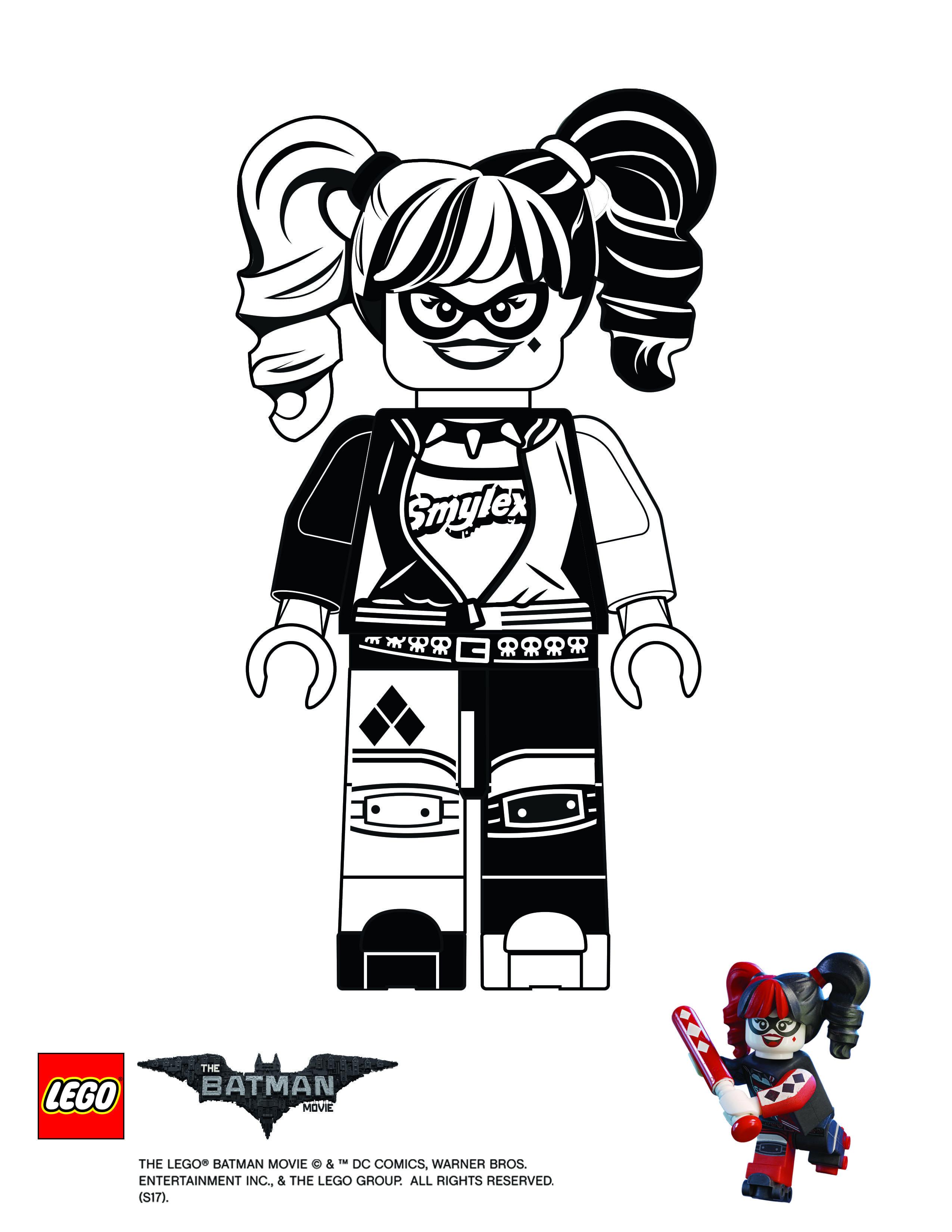 Ausmalbilder Batman Lego Genial Coloring Page Harley Quinn the Lego Batman Movie Elegant Fotografieren