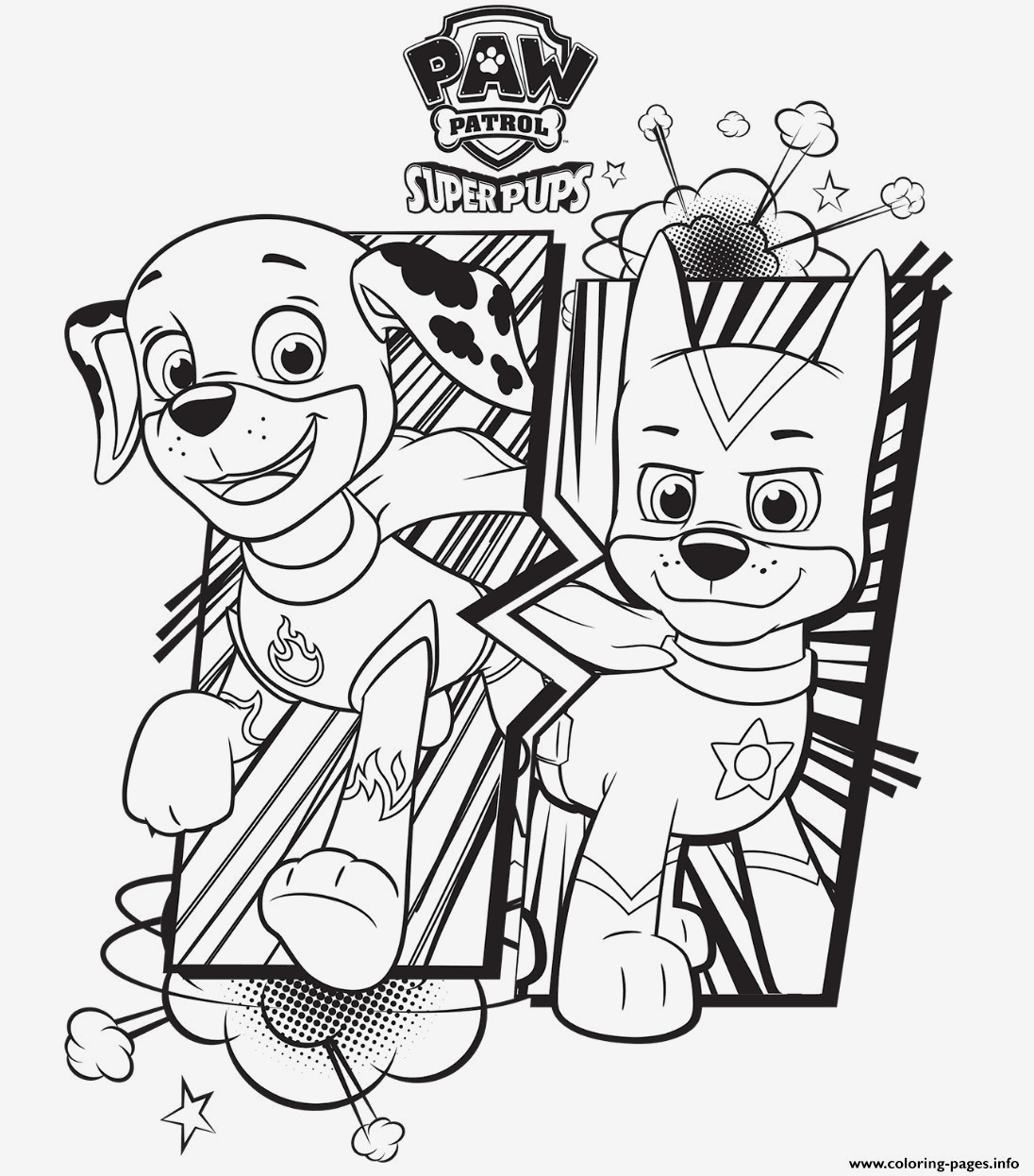 Paw Patrol Bilder Marshall Coloring Pages For Kids