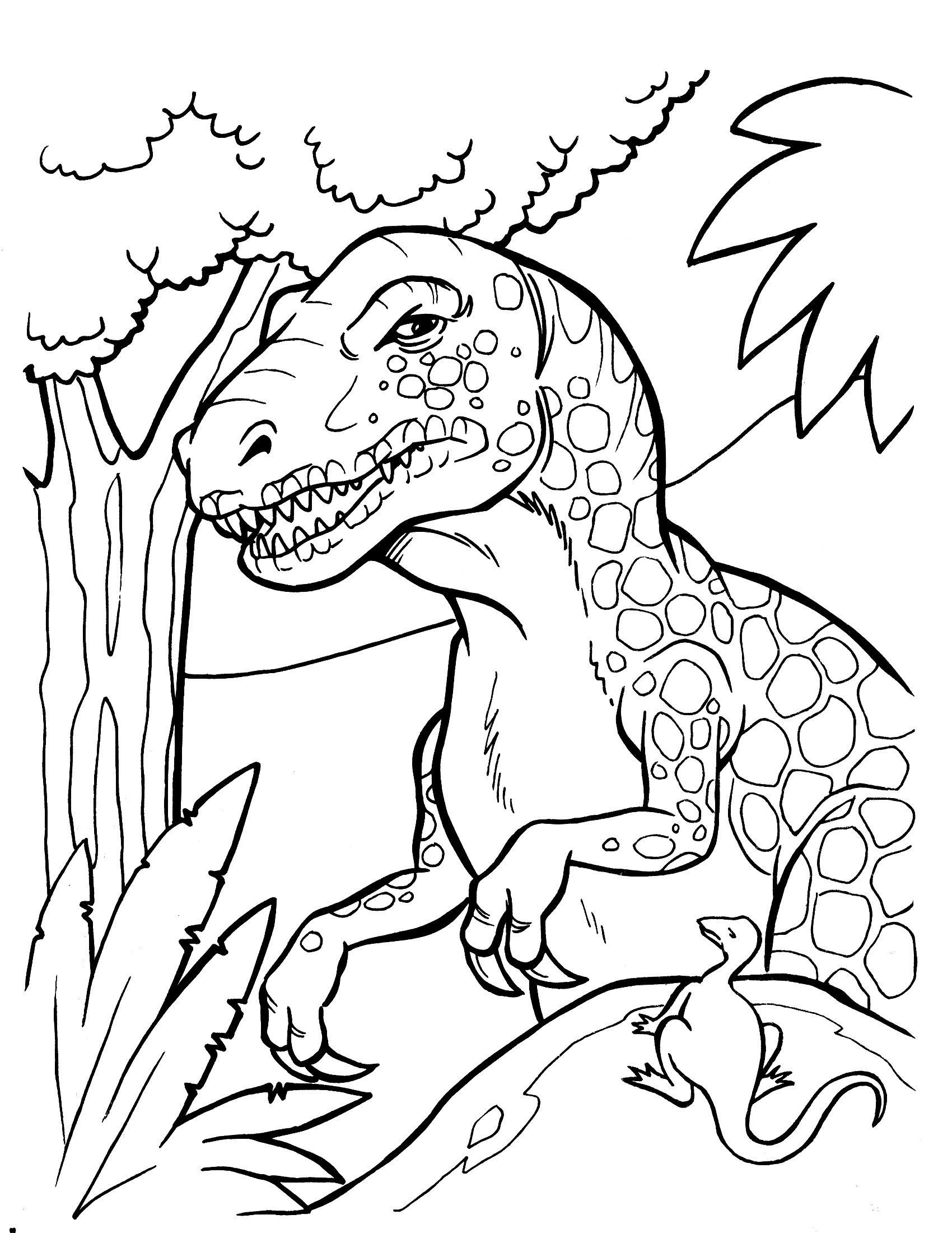 40 Ausmalbilder Dinosaurier Rex Scoredatscore Schön Ausmalbilder In