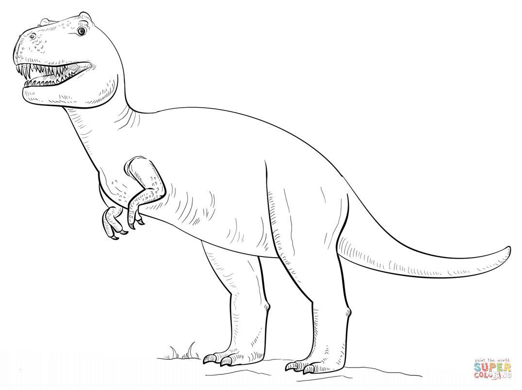 ausmalbilder dinosaurier rex genial kleurplaat printable t