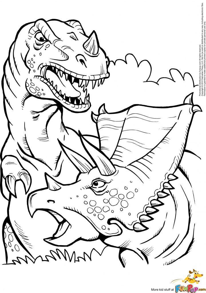 Ausmalbilder Dinosaurier Rex Genial Kleurplaat Printable T Rex and Triceratops Coloring Page Best Galerie