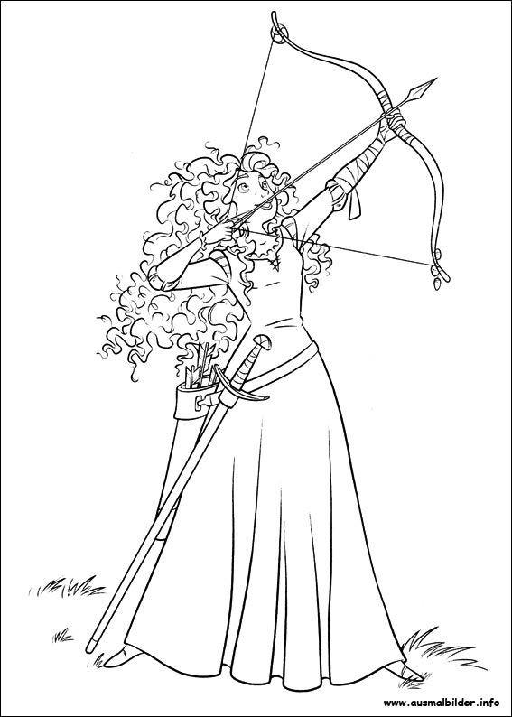 Ausmalbilder Disney Prinzessinnen Genial Merida Legende Der Highlands Malvorlagen Fotografieren
