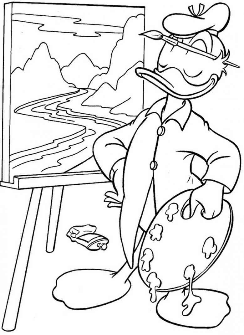 Ausmalbilder Donald Duck Einzigartig Donald Duck Musiker Malvorlagen Für Print Für Kinder Genial Donald Bild