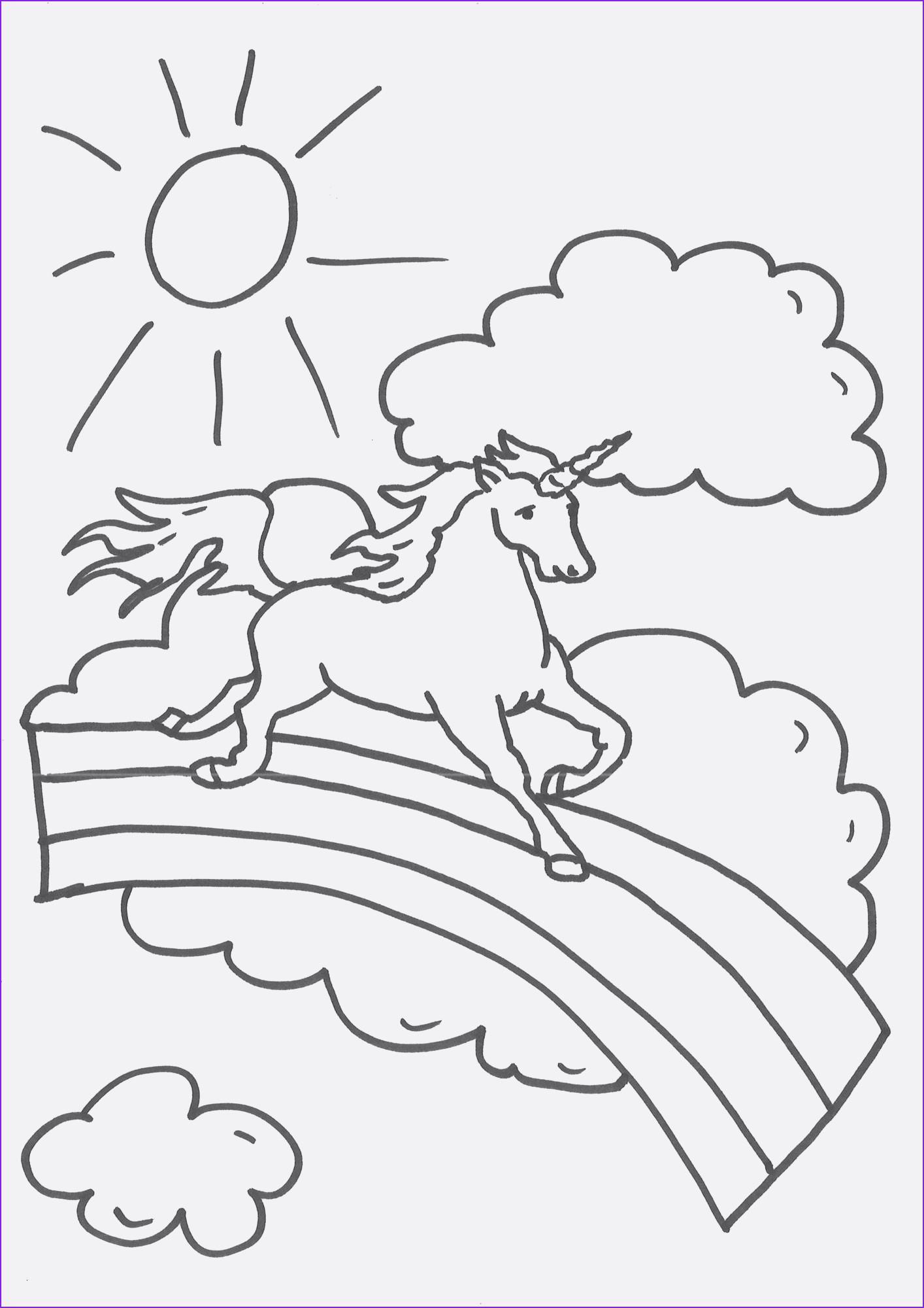 Ausmalbilder Einhorn Mit Fee Neu Einhorn Ausmalen Genial Einhorn Malvorlage Kinder Bilder Zum Stock