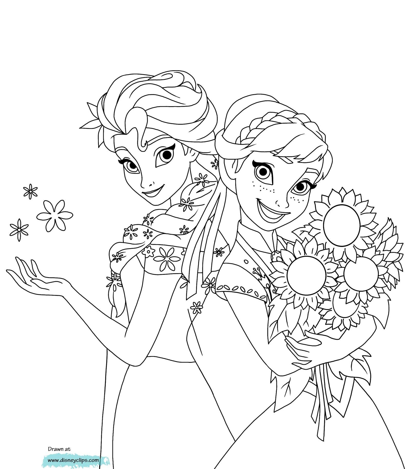 Ausmalbilder Elsa Und Anna Zum Ausdrucken Einzigartig Gratis Malvorlagen Elsa Und Anna Sammlung