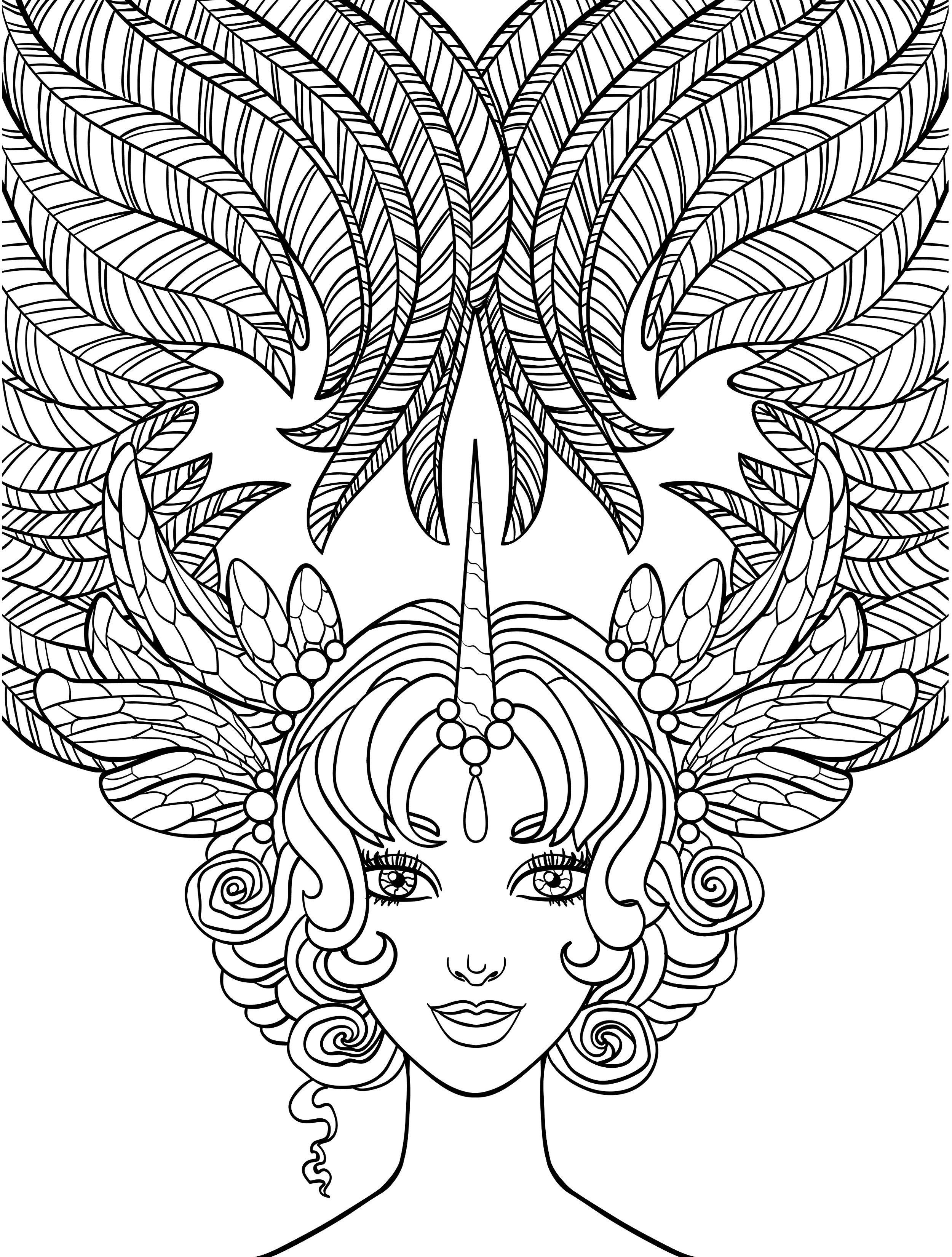 Ausmalbilder Erwachsene Fantasy Frisch 10 Crazy Hair Adult Coloring Pages Coloring Pages Elegant topmodel Bilder
