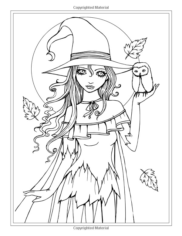 Ausmalbilder Erwachsene Fantasy Genial Autumn Fantasy Coloring Book Halloween Witches Vampires and Stock