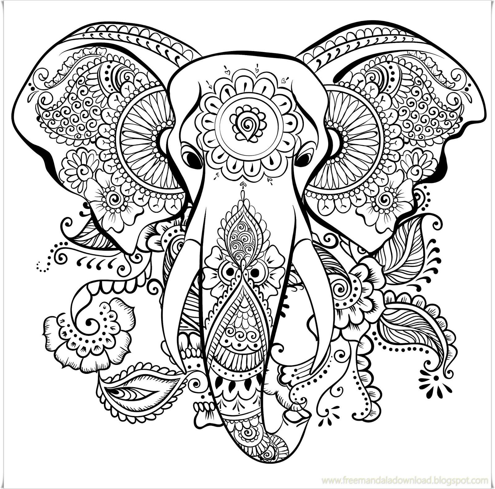 Ausmalbilder Fur Erwachsene Elefant Das Beste Von 100 Schöne Ausmalbilder Für Erwachsene Bilder Ideen Stock