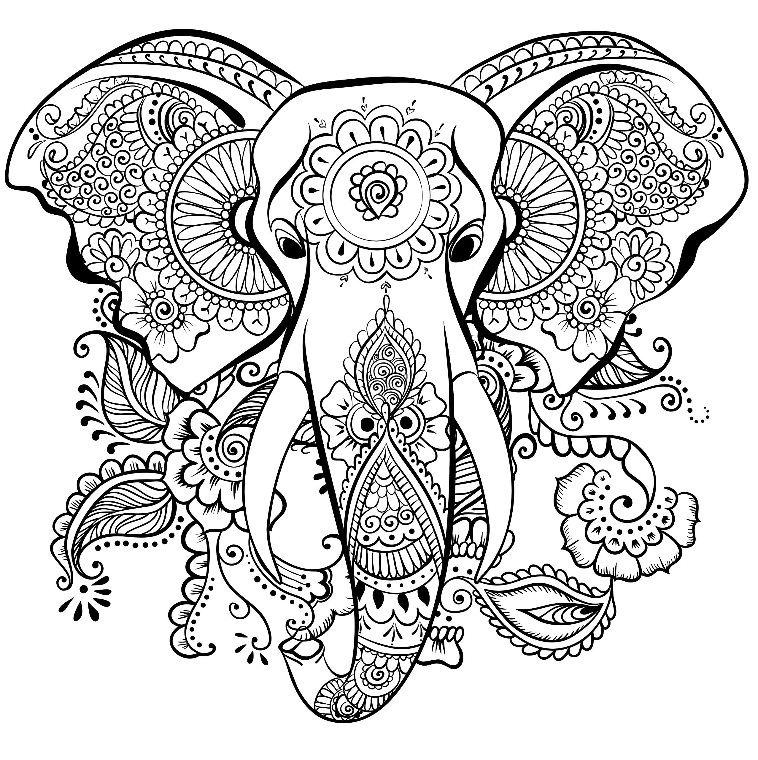 Ausmalbilder Fur Erwachsene Elefant Frisch 100 Schöne Ausmalbilder Für Erwachsene Bilder Ideen Fotos