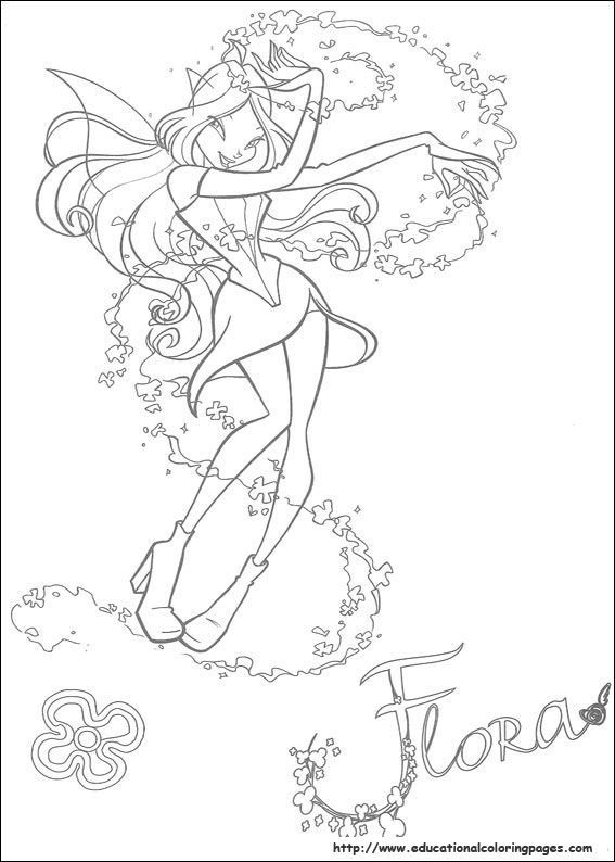 Ausmalbilder Feen Kostenlos Frisch Winx Club Coloring Pages Free for Kids Coloring Stock