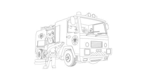 Ausmalbilder Feuerwehrmann Sam Genial Kika Ausmalbild Feuerwehrmann