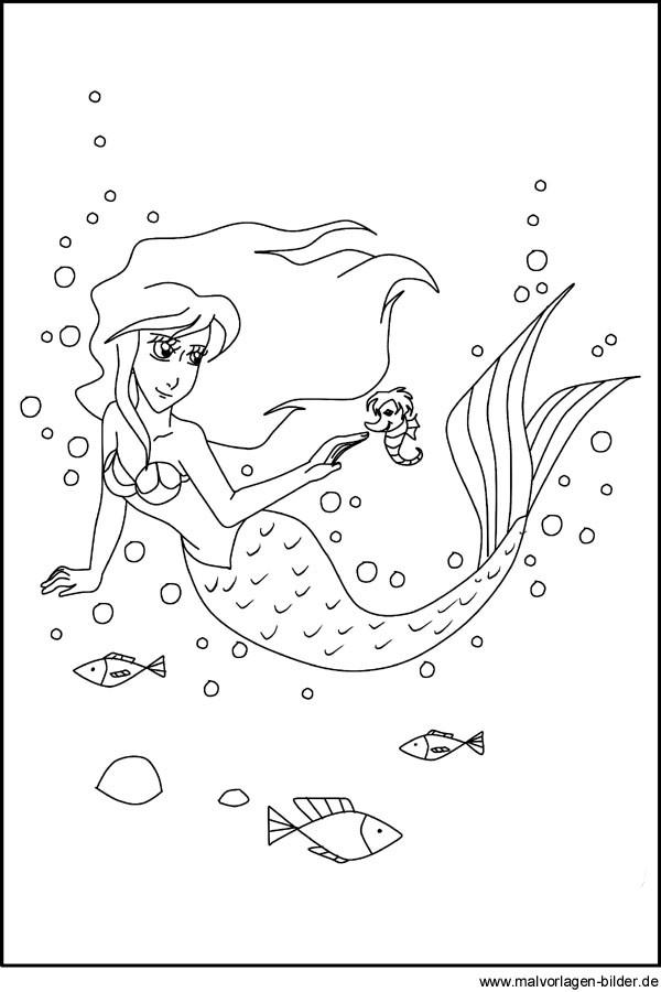 Ausmalbilder H2o Plötzlich Meerjungfrau Einzigartig Ausmalbild Von Einer Meerjungfrau Zum Ausdrucken Bilder