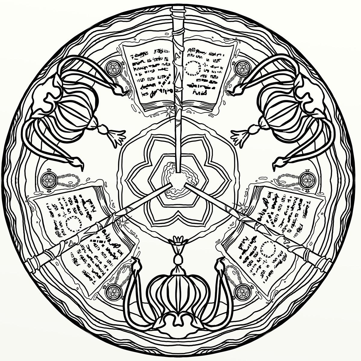 Ausmalbilder Harry Potter Das Beste Von Harry Potter Magical Places & Characters Mandala Art Behance Stock