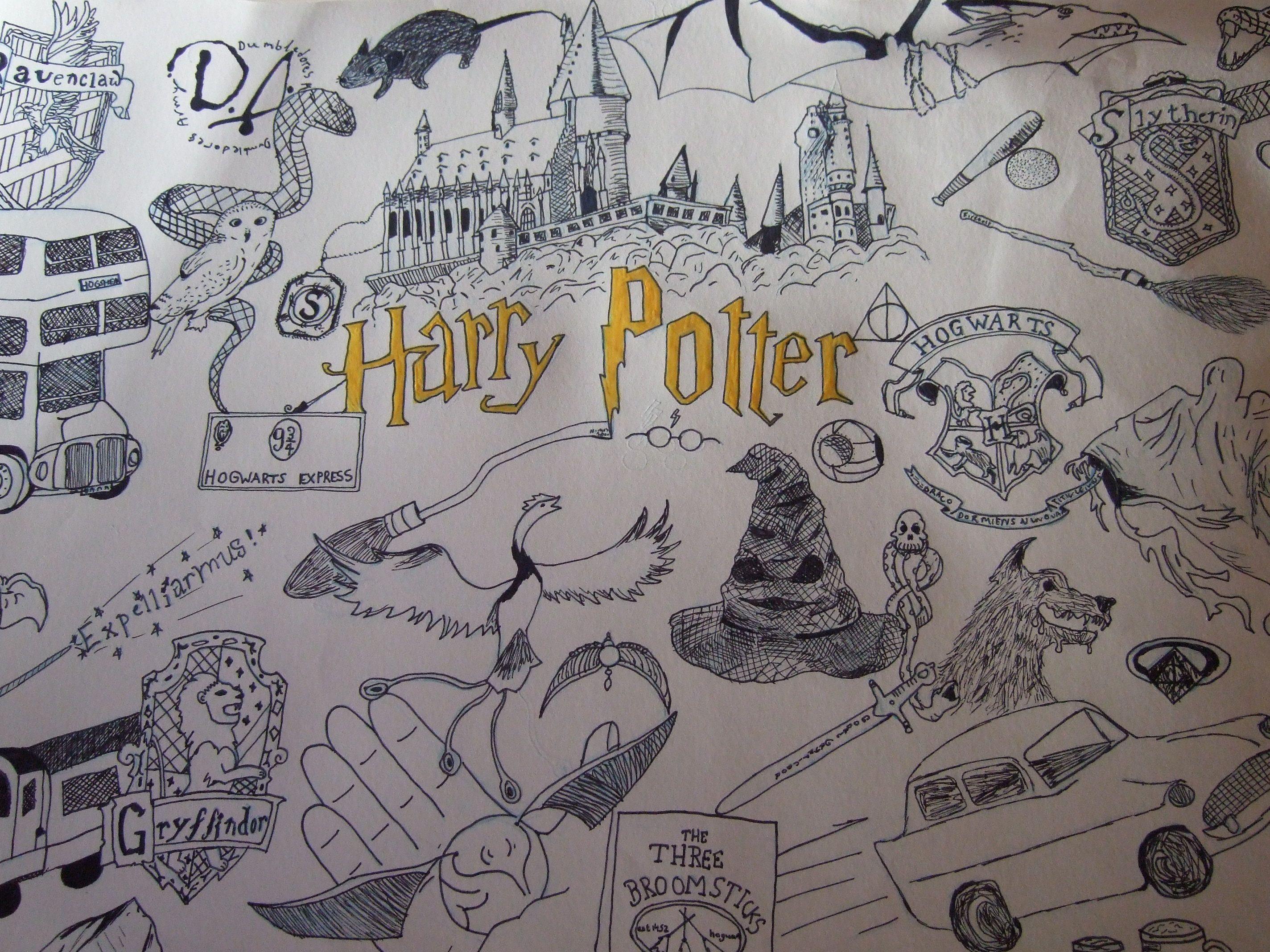 Ausmalbilder Harry Potter Genial Harry Potter Drawing I Did This It took Me Ages Neu Ausmalbilder Fotos