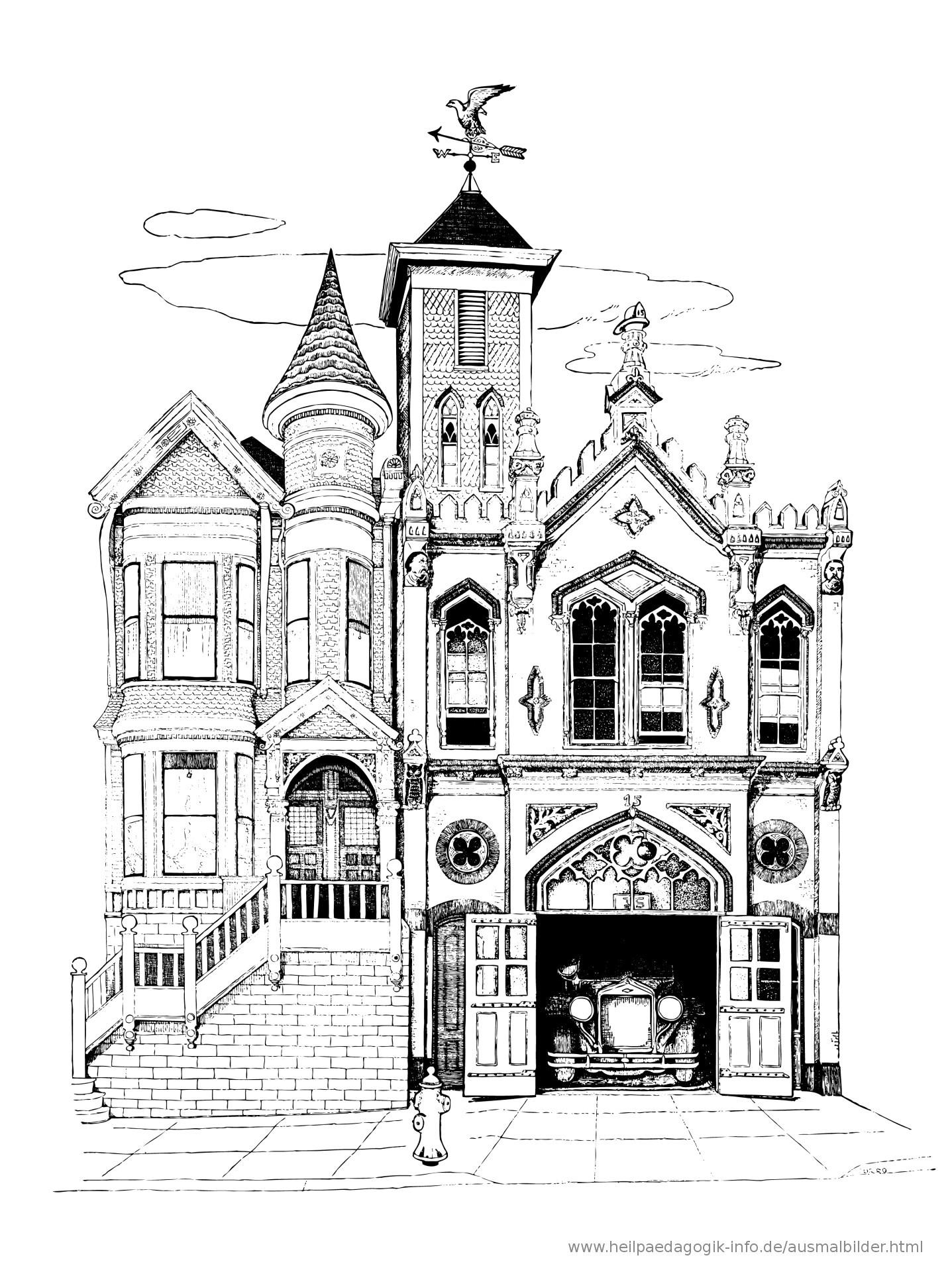 Ausmalbilder Haus Mit Garten Das Beste Von Ausmalbilder Häuser Und Gebäude Avec Ausmalbild Haus Innen Et Galerie