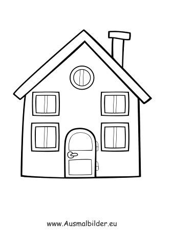 Ausmalbilder Haus Mit Garten Einzigartig Ausmalbild Einfaches Haus Liedla Pinterest Ausmalen Haus Avec Bilder
